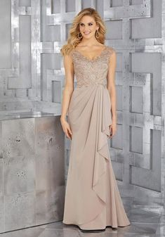 828117f3df6 Check out the deal on MGNY by Morilee 71617 MOB Gown with Beaded Embroidery  at French
