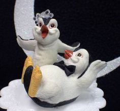 Happy Feet Cake Toppers | Happy Penguin Kickin Feet Wedding Cake topper funny top nature Animal