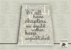 We all have some chapters in life we would keep unpublished! #notebook #forsale #Digitaltadka #StyleTadka
