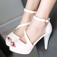 Women's+Shoes+Stiletto+Heels/Platform/Open+Toe+Sandals+Party+&+Evening/Dress+Black/Blue/Pink/White/Almond+–+USD+$+35.99