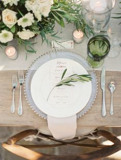 Wedding menus and place settings {Photo by Erich McVey}