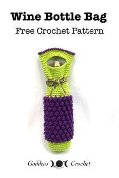 Wine Bottle Bag - Free Crochet Pattern