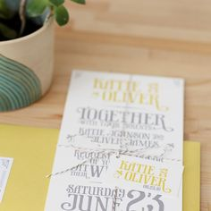 invites in our colors