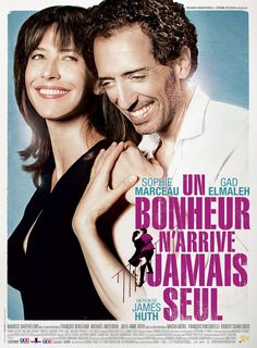 Buy Happiness Never Comes Alone on DVD at Mighty Ape NZ. Happiness Never Comes Alone (French: Un bonheur n'arrive jamais seul) is a 2012 French romantic comedy film starring Gad Elmaleh, Sophie Marceau, and . Hd Movies, Movies To Watch, Movies Online, Movies And Tv Shows, Movie Tv, Sophie Marceau, Robert Charlebois, Video 4k, Trailer Peliculas
