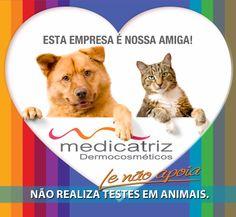 A Medicatriz Dermocosméticos não realiza e não apoia teste em animais.