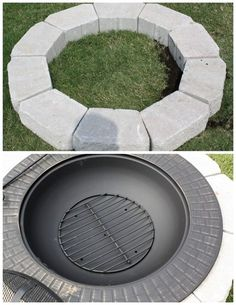 New Backyard Addition {Fire Pit on a Budget}