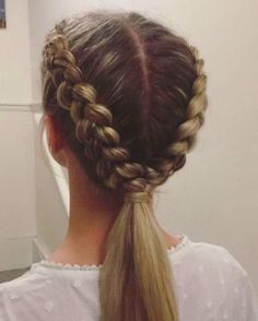Cute Hairstyles For Teens, Easy Hairstyles For Long Hair, Teen Hairstyles, Braids For Long Hair, Hairstyle Ideas, Cute Sporty Hairstyles, Braided Hairstyles Medium Hair, Blonde Hairstyles, Braided Hairstyles For School
