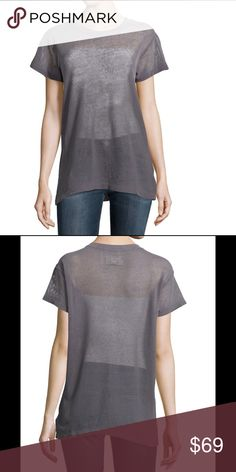 Current ELLIOT Crew Neck Oversized Mesh Tee Current/Elliott jersey tee in mesh knit. Crew neckline. Short sleeves. Relaxed fit. Straight hem. Pullover style. Cotton/Lycra spandex. Color: CASTLE. Size 0 in c/e will fit xs- s Current/Elliott Tops
