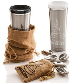 Coffee Joulies! Great for people who cannot drink their coffee right away!