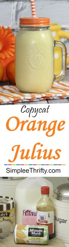Whip up this Dairy Queen Copycat Orange Julius for an awesome summer treat! This fruit smoothie replica is super easy to make and tastes delicious! After you mix it up put them in these Popsicle containers for treats for the kids! Healthy Fruit Smoothies, Smoothie Recipes For Kids, Fruit Drinks, Fruit Recipes, Yummy Drinks, Fruit Fruit, Orange Recipes, Drink Recipes, Recipies