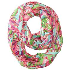 Lilly Pulitzer Riley Infinity Loop Rayon Scarf ($75) ❤ liked on Polyvore featuring accessories, scarves, infinity scarf, tube scarves, tube scarf, loop scarf e viscose scarves