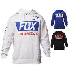 Fox Racing Honda Basic Mens Hoody Sweatshirt Jackets Pullover Hoodies