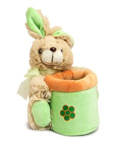 Look at this Green Springtime Bunny Basket Plush Toy on #zulily today!