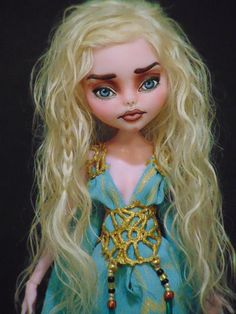 Daenerys ~ OOAK Monster High Repaint  Art Doll ~ Game of Thrones ~ by Bordello