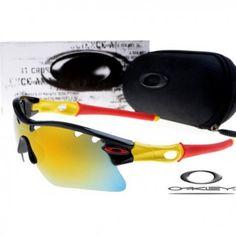 0effd82e8d  16.00 oakley radar path photochromic sunglasses with polished black frame    yellow frame   fire iridium