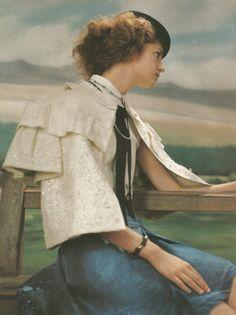 Anne-Marie Van Dijk by Yelena Yemchuk for Vogue Italia August 2004