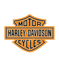 harley davidson logos | Harley Davidson Logo Black Orange and White by sookiesooker