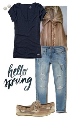 hello spring...something different by toric on Polyvore featuring polyvore, fashion, style, Honora, Sperry and clothing