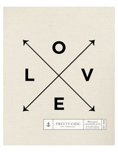 Love X Type Print Nautical Love Print by Pretty by prettychicsf