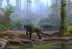Struthiosaurus austriacus:  Late Cretaceous (85–66 Ma): Thyreophora: Artwork by atrox1 on DeviantArt