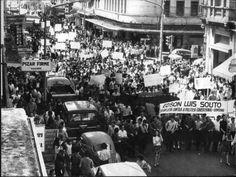Manifestação contra a morte do estudante Edson Luís (morto pela polícia do Rio de Janeiro em 1968)