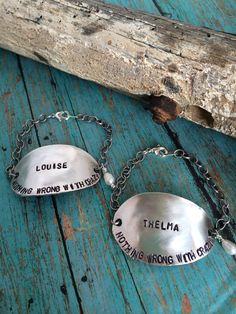 a6055bcc Thelma and Louise Quote Spoon Bracelets on Etsy, $45.00 Spoon Bracelet,  Spoon Jewelry,