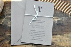 Rustic Twine Rehearsal Dinner Invitations by avisualconcept, $25.00