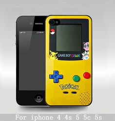 gameboy Pokemon iphone 5c case,iPhone 5s Case, iPhone 5 case game boy iPhone 4 Case, skin cover plastic personalized on Etsy, $6.80