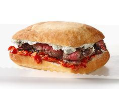 Steak Sandwiches With Blue Cheese and Peppadew Mayo recipe from Food Network Kitchen via Food Network