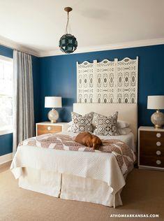 That headboard! Bedroom from Bear-Hill Interiors. #laylagrayce #bedroom