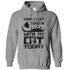 I have plan with my cat today T Shirts, Hoodies. Get it now ==► https://www.sunfrog.com/Pets/I-have-plan-with-my-cat-today-8656-SportsGrey-56406986-Hoodie.html?41382 $39