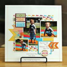 Krista's Stamper Room: Amazing Birthday Scrapbook Page