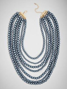 Gorgeous dusty blue pearls