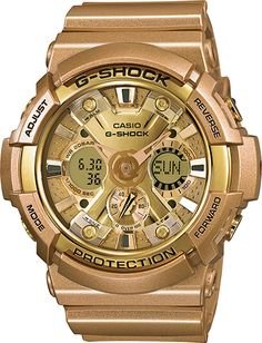 G Shock Male Sports Watch  GA200GD-9A Gold Ana-Digi