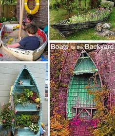 What rocks your boat? Nautical Backyard and Garden Decor Ideas: http://www.completely-coastal.com/2015/04/backyard-ideas-coastal-living.html