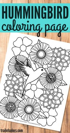 Can you hear the birds singing? We have a nice little hummingbird bird coloring page for grownups to share with you today!