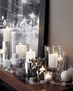 All Aglow Holiday Décor For The Fireplace