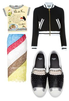 """""""Touring Europe"""" by norajox-kim ❤ liked on Polyvore featuring Preen, Dolce&Gabbana, Moschino, Fendi, Summer, Inspired, Random, Europe and app"""