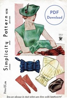 This is a PDF pattern available to print at home after instant download. *30 tile pages + sewing instructions* This is a digital download with pattern pieces to full scale. To purchase a physical copy printed on 36 wide format paper, please visit: