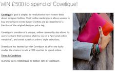 Win to spend at Covetique. Shopping Vouchers, High Street Brands, Stuff To Buy, Fashion Design