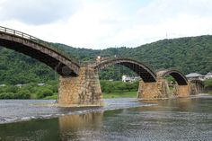 the Kintai Bridge, one of the oldest in Japan
