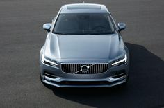 Official pictures of Volvo's new E-Class rival, the S90 sedan.