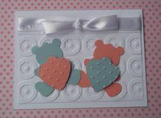 Convite para chá de fraldas de gêmeos    Baby shower invitation card