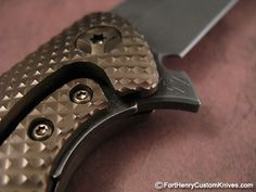 """Brian Nadeau - Sharp by Design - Typhoon. This is the actual knife that won """"Best Tactical Folder"""" at Blade 2014"""