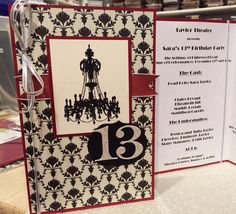 Hand-stamped Theater Arts 13th Birthday Party Invitation http://kimberlytaylor.stampinup.net