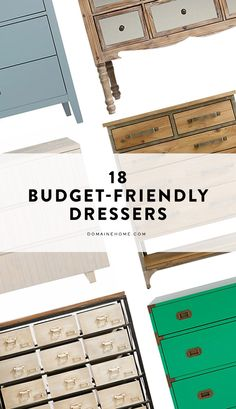 18 budget-friendly dressers that fit every home