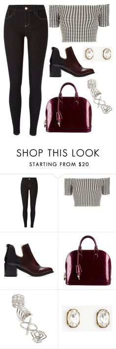 """Sem título #10179"" by beatrizibelo ❤ liked on Polyvore featuring River Island, Topshop, Zara, Louis Vuitton and Ann Taylor"