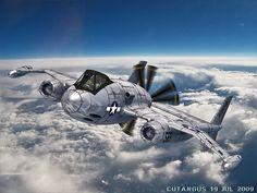 Atompunk Mirrored Plane