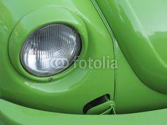 Restaurierter grüner VW Käfer der Siebziger Jahre in Bodrum in der Provinz Mugla in der Türkei