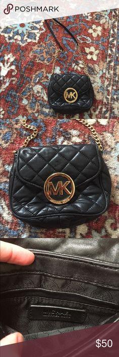 "Michael Kors Black Quilted Shoulder Bag Michael Kors small black quilted shoulder bag. Super cute piece to hold your essentials! Measurements are 7""x6""x2.5"" MICHAEL Michael Kors Bags Shoulder Bags"